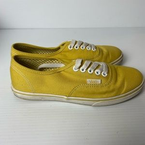 Vans Authentic lo pro bamboo sneakers yellow